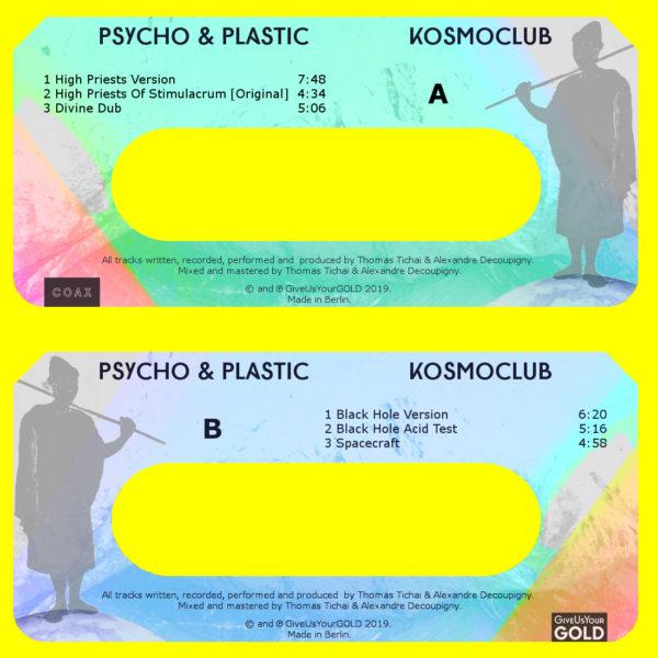 Psycho & Plastic – Kosmoclub Cassette Artwork
